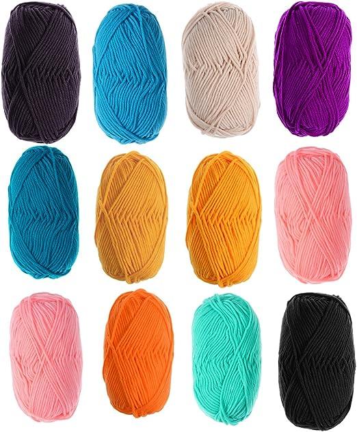 ULTNICE Ovillo de lana para jerseys, sombreros, bufandas ...