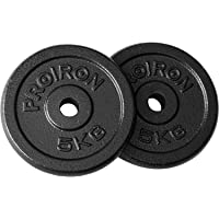 PROIRON Cast Iron Weight Plate - Cast Iron Weight Plate 2 x 5KG