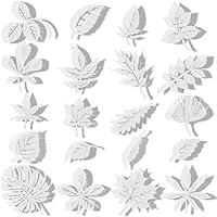 20 pegatinas de tamaño grande anticolisión para ventanas con formas de hojas, transparentes, para evitar que las…