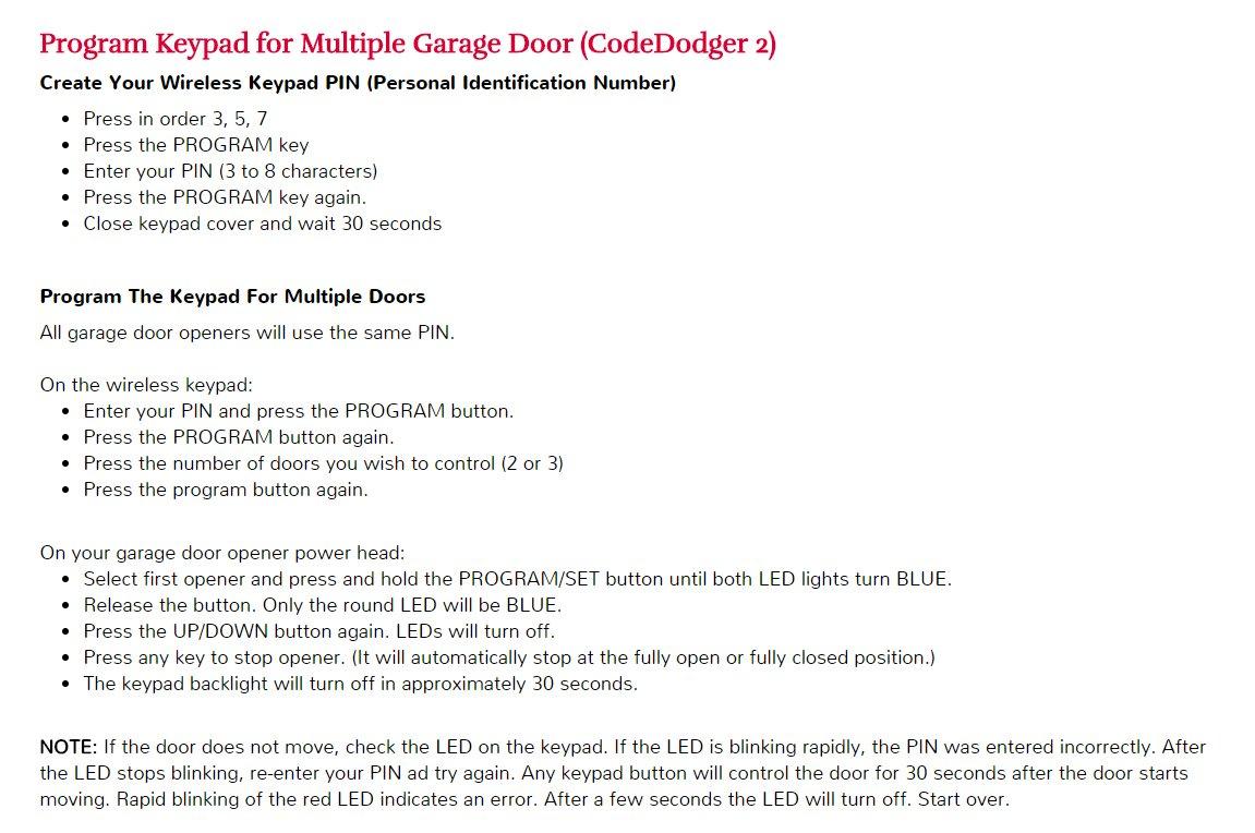 Craftsman Garage Door Opener Error Code 309 Dandk Organizer