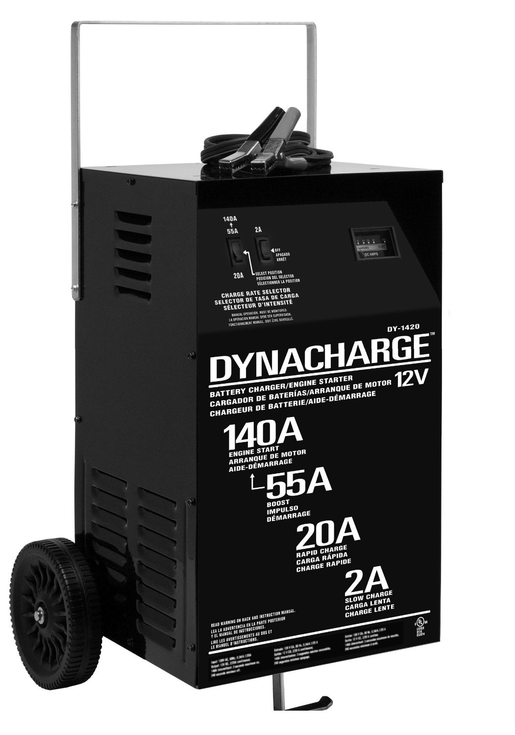 Schumacher DY-1420 2/20/55/140 Amp Manual Wheel Battery Charger with Engine Start