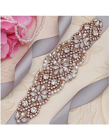 8d662c6cf8b6 Yanstar Handmade Bridal Belt Wedding Belts Sashes Rhinestone Crystal Beads  Belt For Bridal Gowns