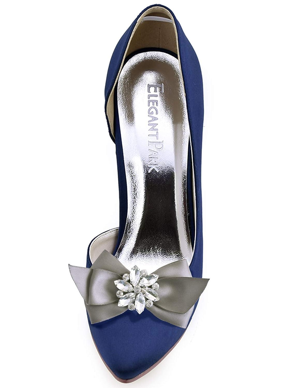 ElegantPark CQ Women Bow Shoe Clips Rhinestones Decorative Jewelry Wedding Party Accessories Decoration