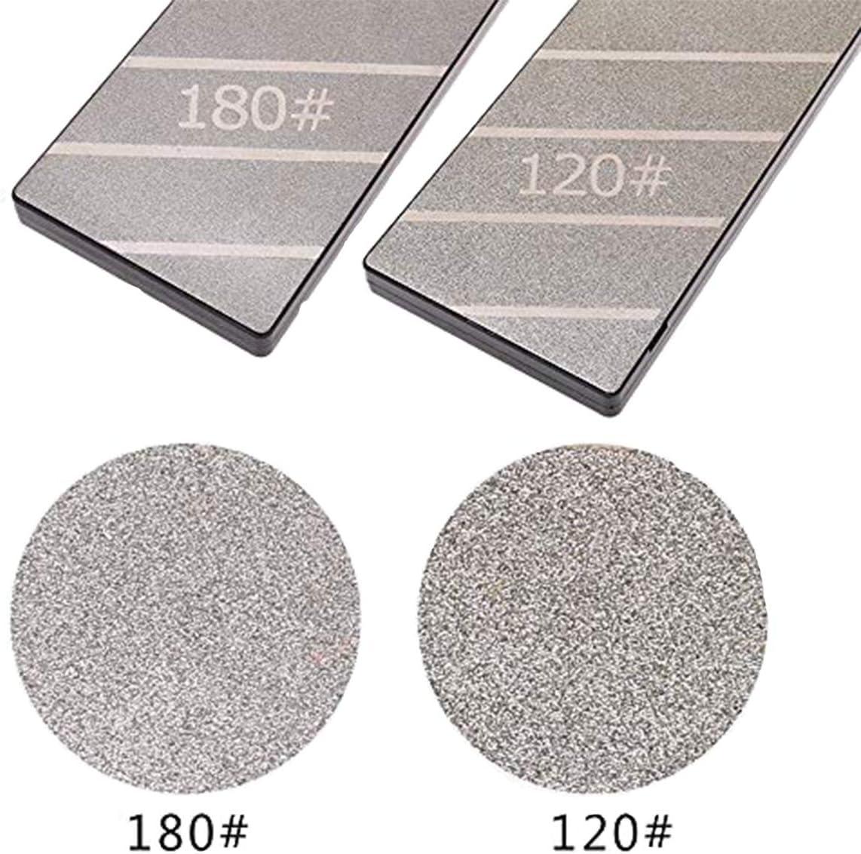 Diamant-Abflachungsstein-L/äppplatte Doppelseitige 120 /& 180 K/örnung Diamant-Sch/ärfplatte Befestigungsstein-Abflachungsplatte 254 /× 79 /× 15 mm