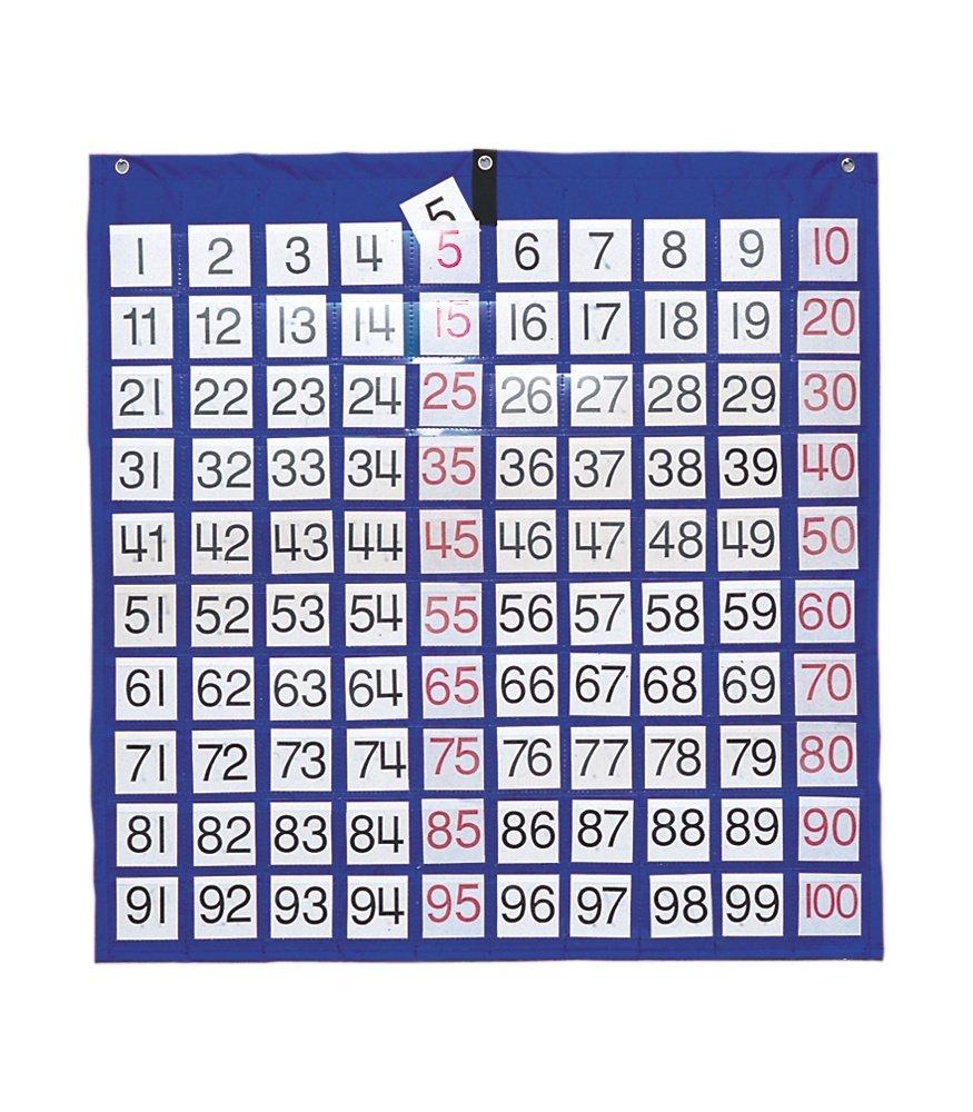 Hundred square classroom pocket chart amazon toys games nvjuhfo Images