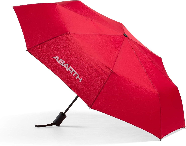 FCA Abarth Parapluie Pliable Rouge avec Logo Blanc Abarth Automatique 6002350527