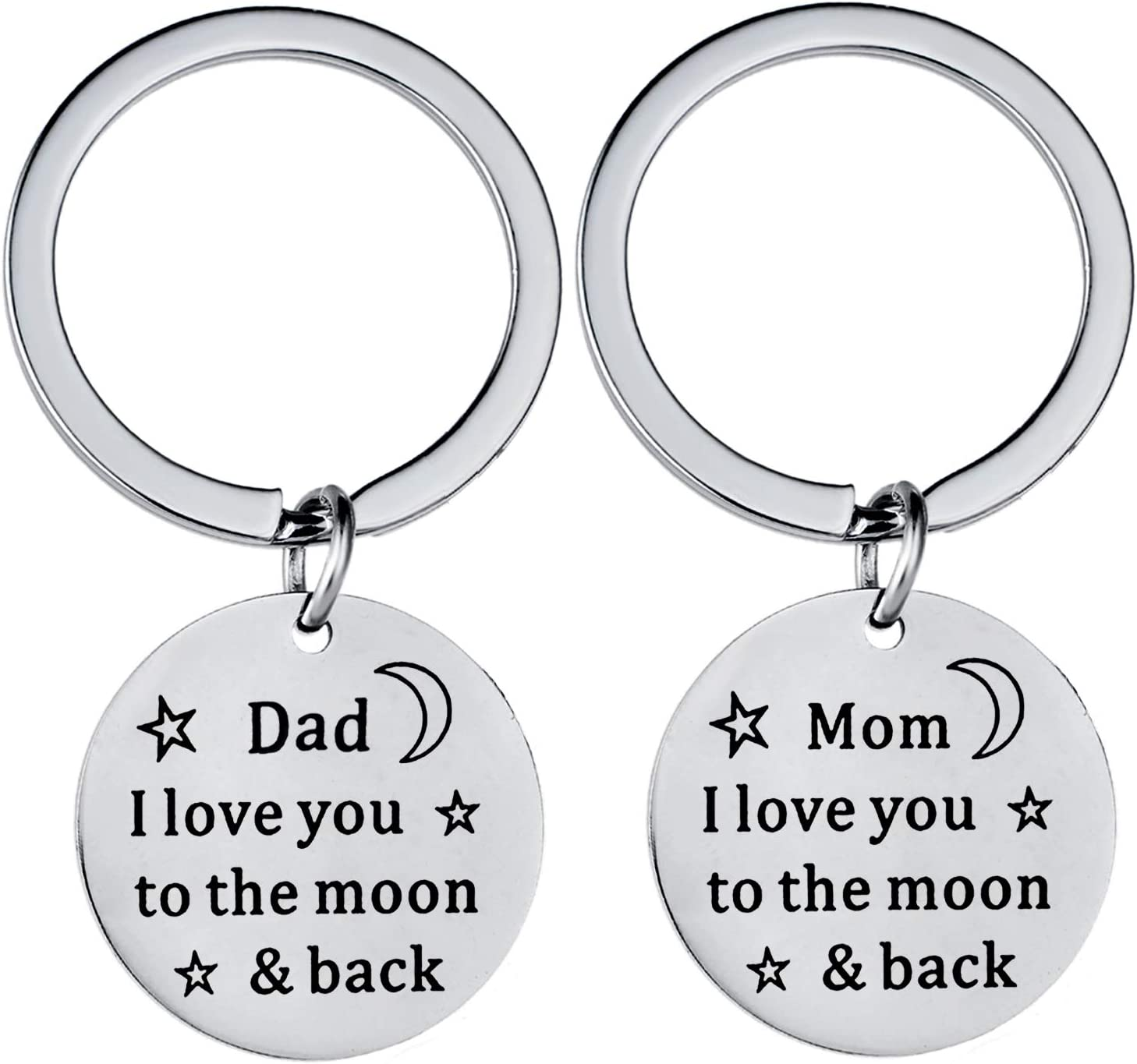 Mother/'s Day Gift I Love Mom Love You To the Moon Keychain Key Ring Daddy/'s Girl