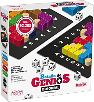 Lúdilo- Batalla de Genios 3D, Mesa, Rompecabezas Madera, educativos, Juegos Inteligencia niños, Puzzles, Color Negro (The Happy 80800): Amazon.es: Juguetes y juegos