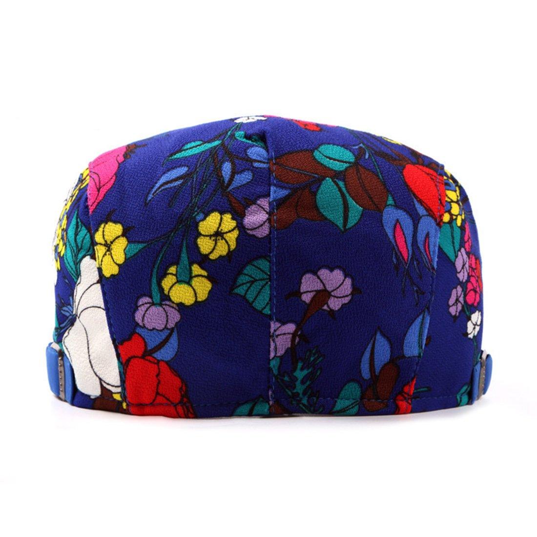 CBriskaari Unisex colorful Flower Flat IVY Gatsby newsboy Collection Hat
