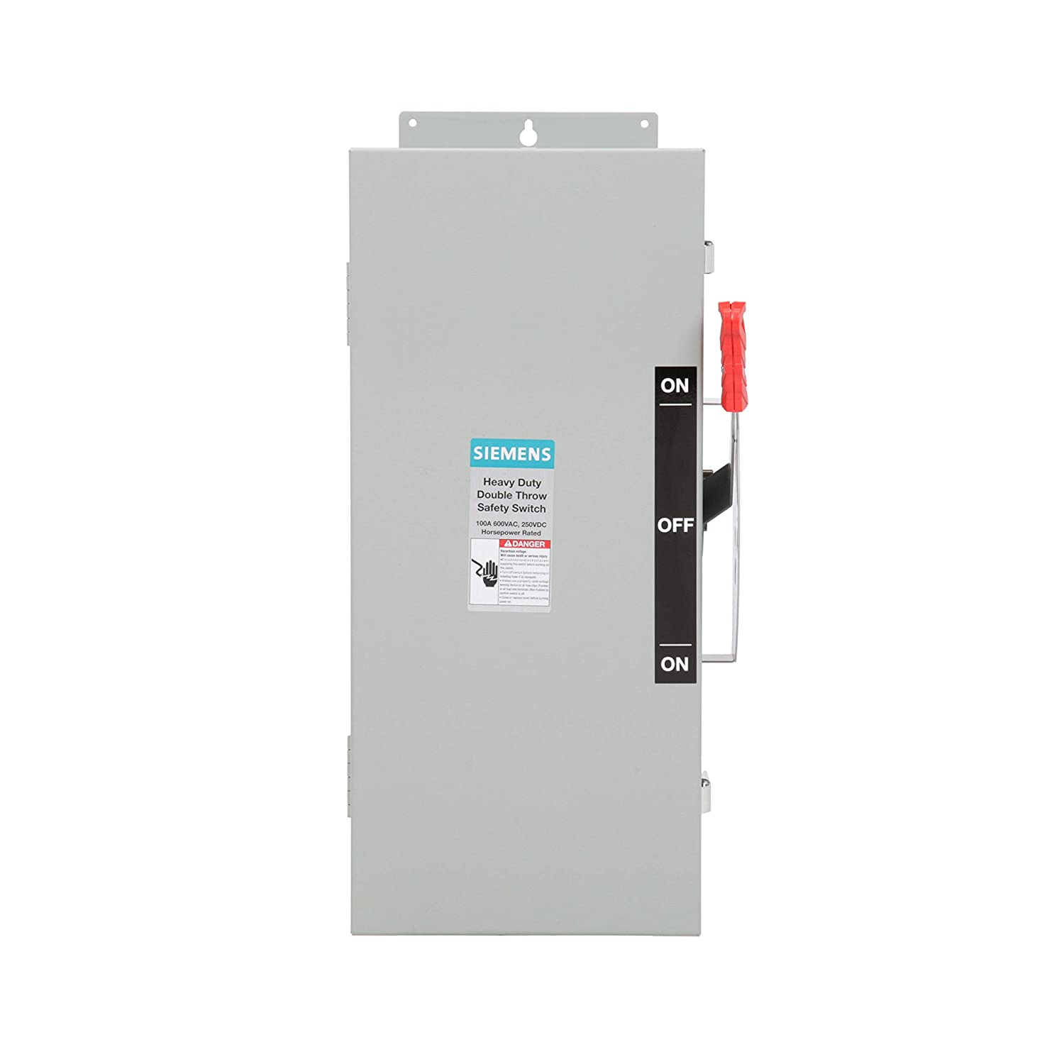 Siemens DTNF363J 100-Amp 3 Pole 600-volt 3 Wire Non-Fused Double Throw Safety Switches Siemens HI