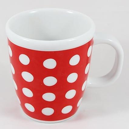 Amazon.com | Bodum Copenhagen 16-Ounce Porcelain Mug, Red with White ...