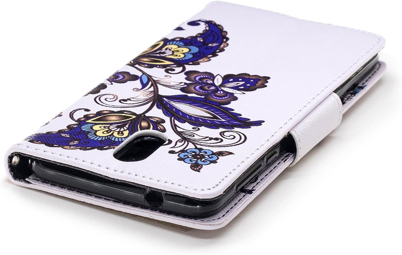 LOBFE13121#1 Nokia 3.1 Case Lomogo Leather Wallet Case with Kickstand Card Holder Shockproof Flip Case Cover for Nokia3.1