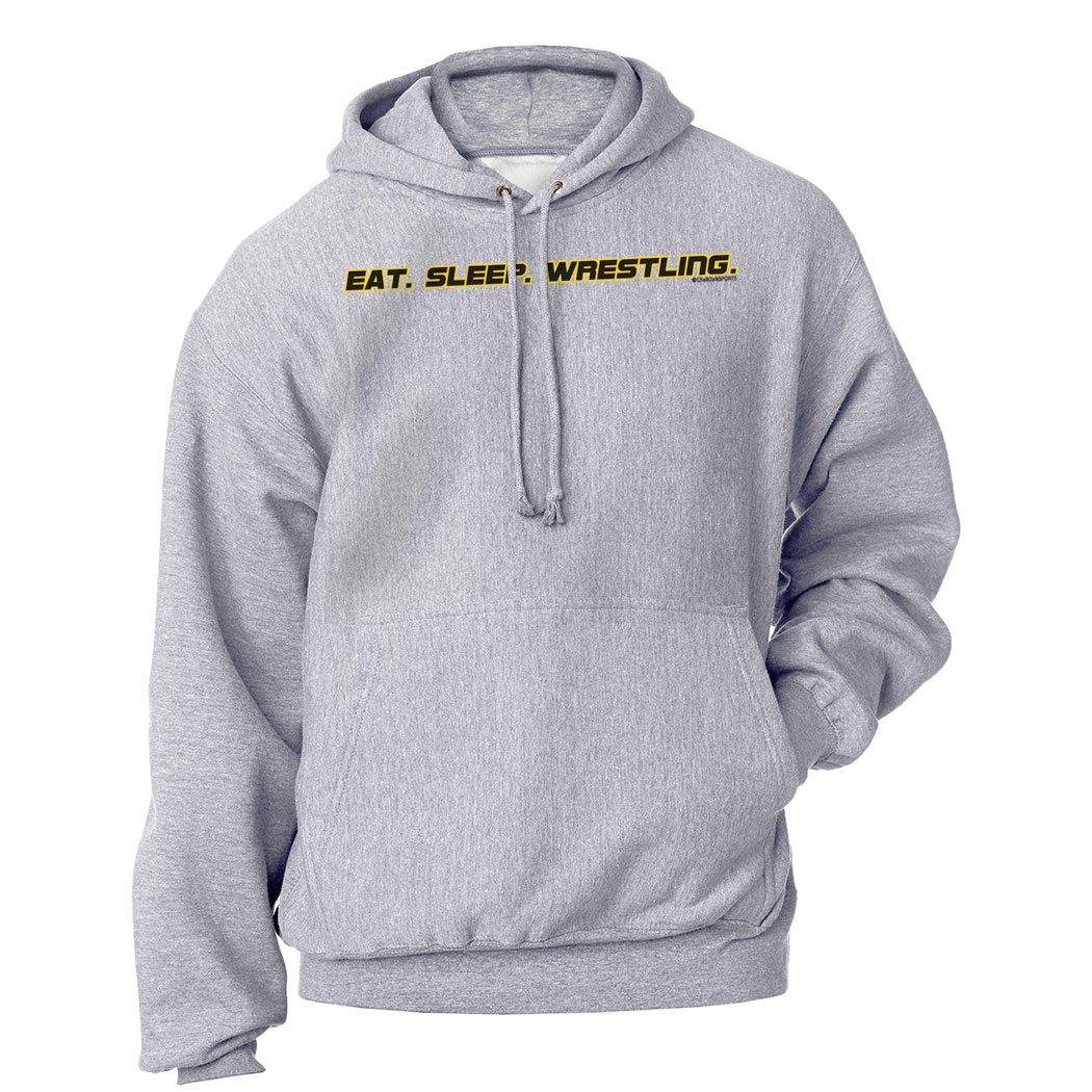ChalkTalkSPORTS | Wrestling Standard Sweatshirt | Eat Sleep Wrestling | Youth Medium | Gray by ChalkTalkSPORTS