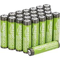 AmazonBasics AAA oplaadbare batterijen met hoge capaciteit 850 mAh (pak van 24 stuks) voorgeladen