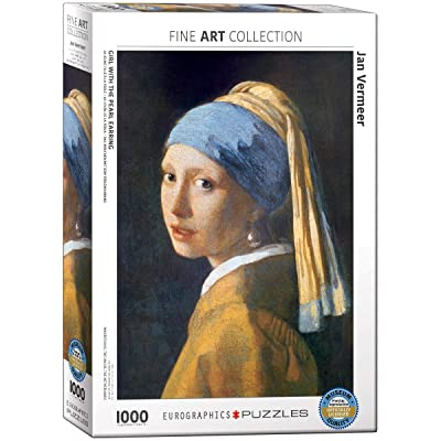 EuroGraphics Girl with A Pearl Earring by Vermeer 1000 Piece Puzzle: Toys & Games