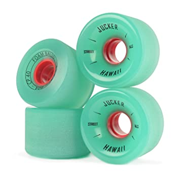 JUCKER HAWAII Ruedas para Longboard / Skateboard / Mini Cruiser Slide Wheels FOAM BALLS 65mm 80A Verde: Amazon.es: Deportes y aire libre