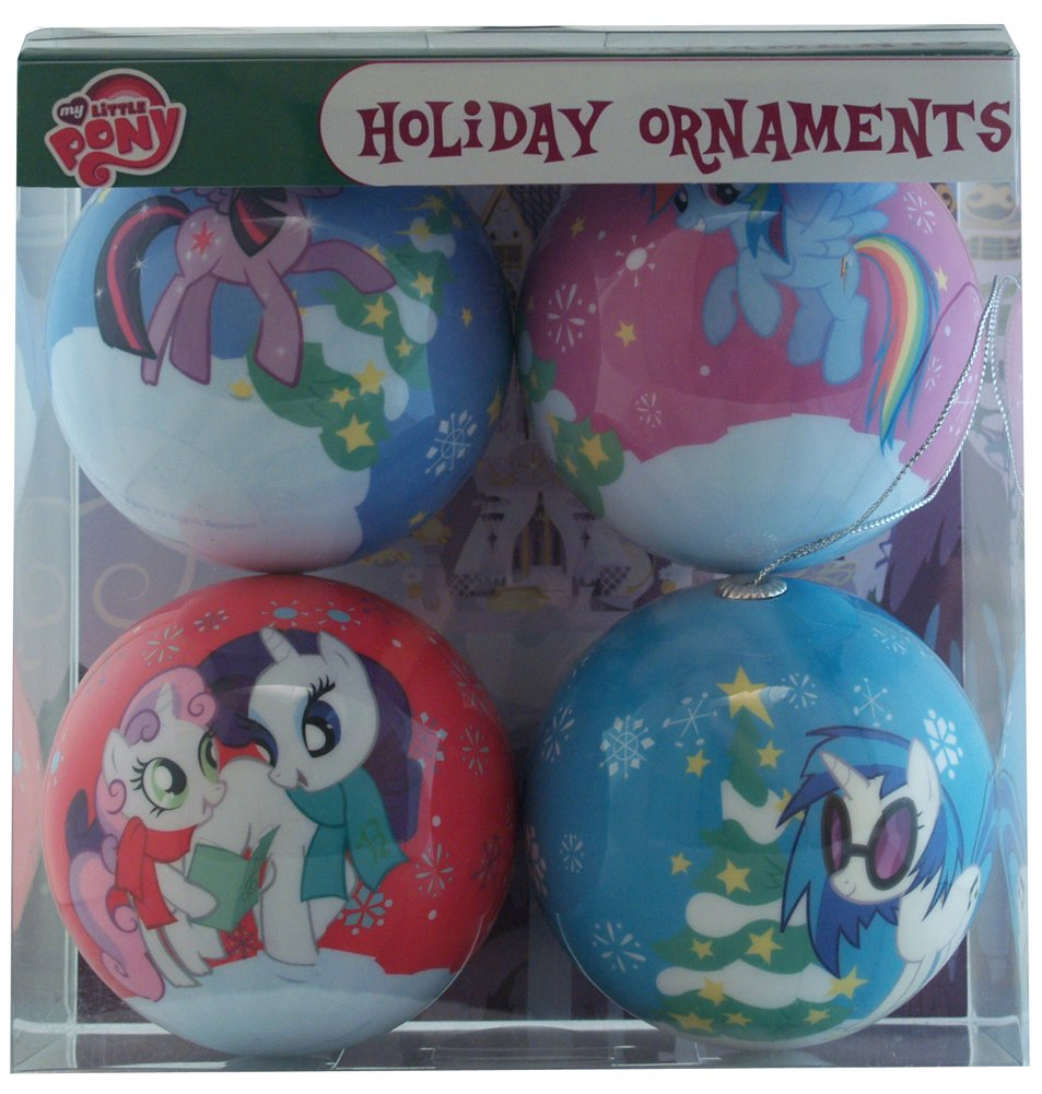 Amazon.com: My Little Pony Christmas Holiday Ornaments Pack Set ...