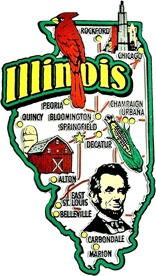 Jumbo Fridge Magnet Chicago Illinois