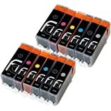 12x FCI Compatible Inks For PGI-550 XL CLI-551 XL Canon Pixma Printer Ink Cartridges for MG6350, MG7150, MG7550, ip8750 printer inks