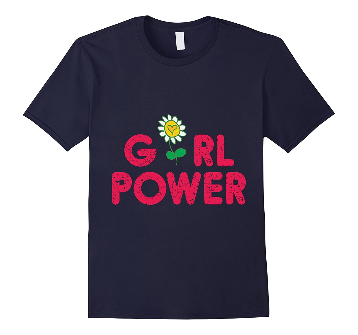 Girl Power Shirt Yellow Rose Feminist Women Flower Best Gift-CD