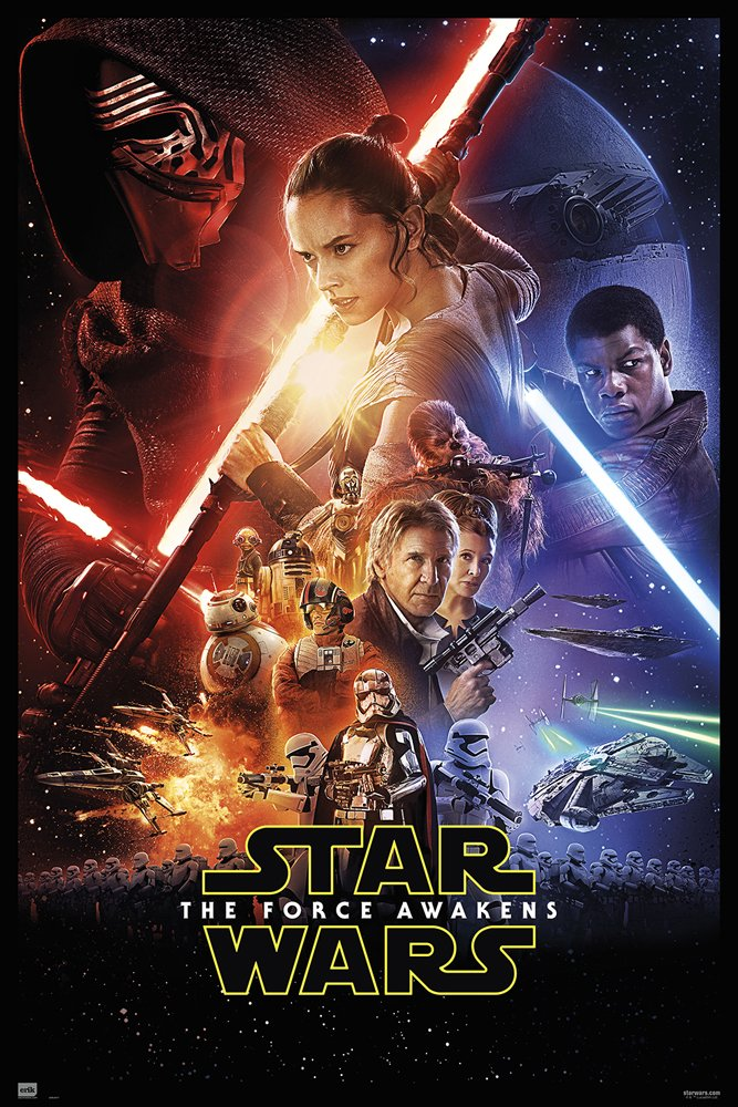 """POSTER STOP ONLINE Star Wars: Episode VII - The Force Awakens - Movie Poster/Print (Regular Style) (Size: 27"""" x 40"""")"""