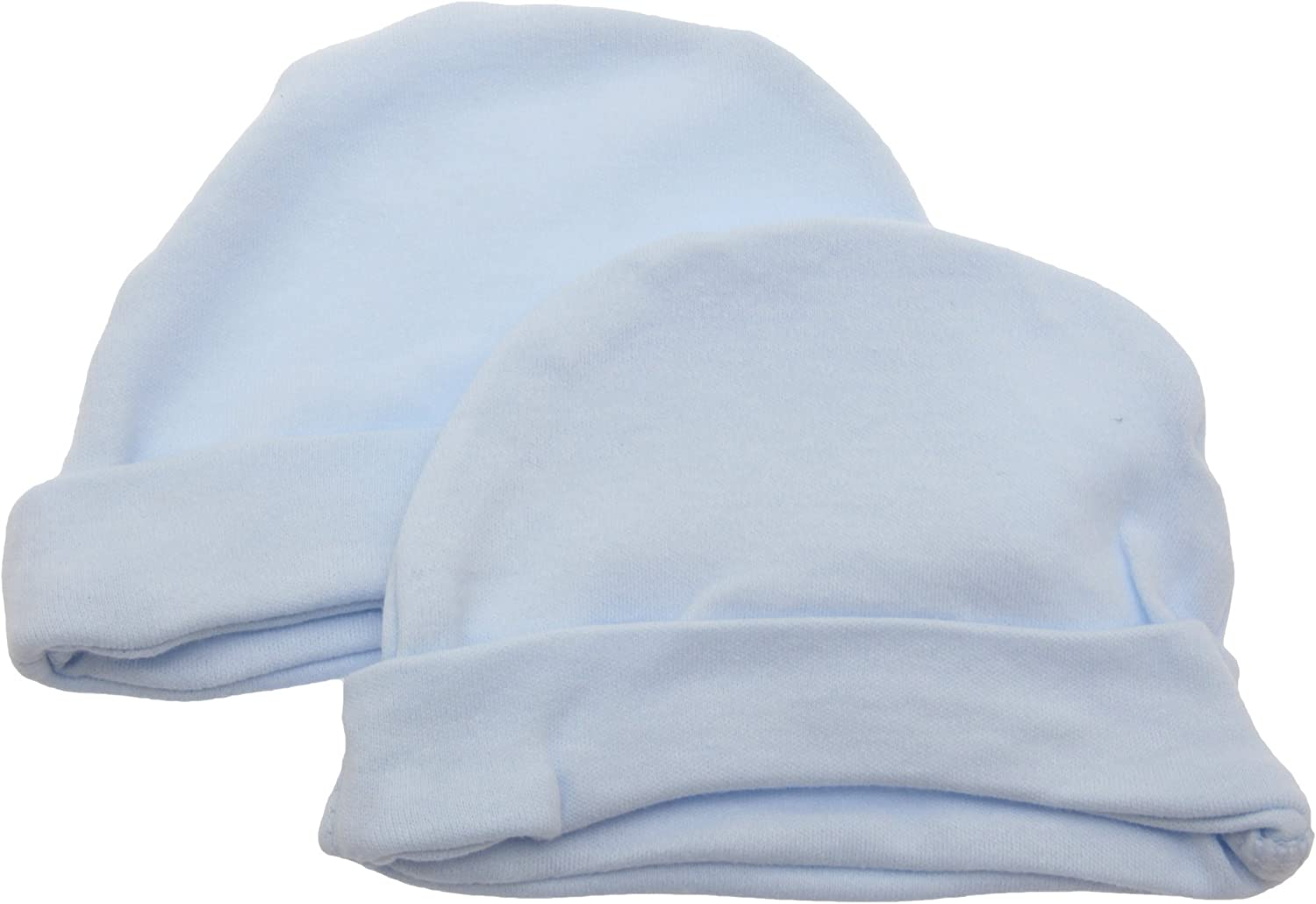 100/% Cotton Baby Hat in Tiny Newborn or 0-3 Months in White Pink or Blue