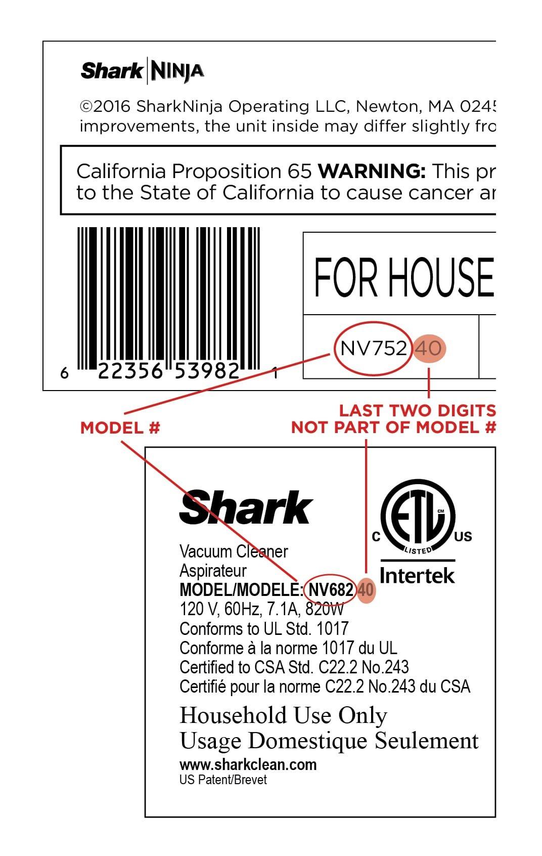 OEM Shark Rotator Liftaway NV500 NV501 UV560 Power Nozzle Brushroll Bar