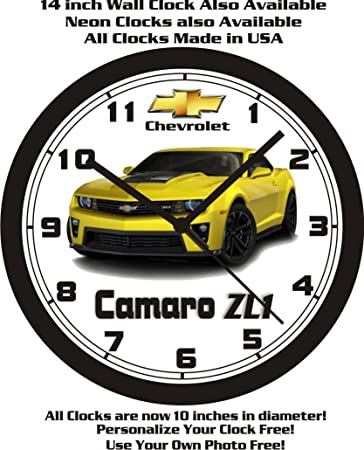Muscle Car Memories 2013-2015 Chevrolet Camaro ZL1 Wall Clock-Free USA Ship