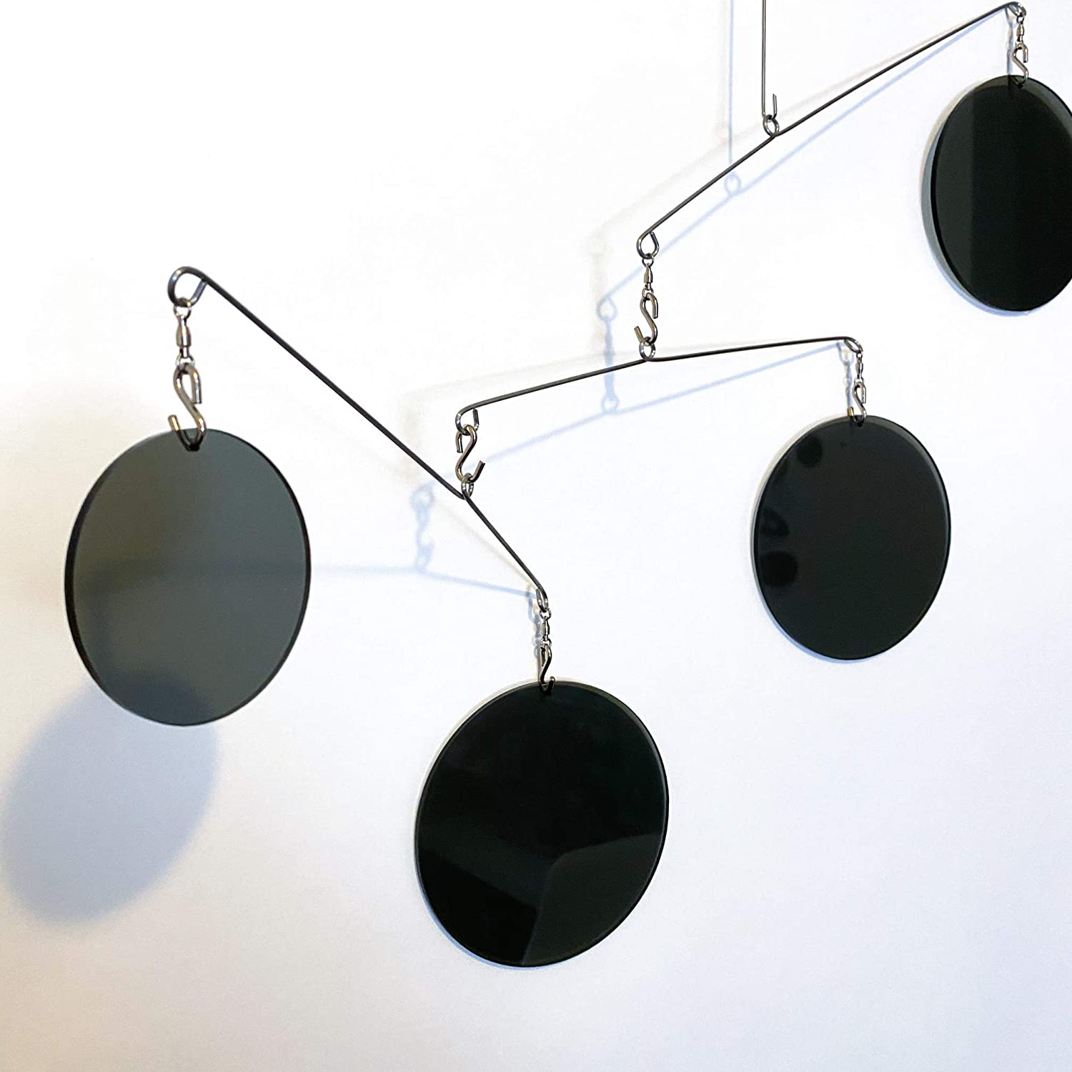 DIY Mobile Kit The Atomic Mobile Gorgeous Clear Smoky Gray MODular Kinetic Hanging Modern Art Inspired by Mid Century Modern Style
