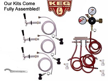 3 grifo Kit de frigorífico con vástago, cordal y estándar de grifo, Ball Lock