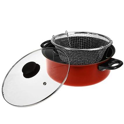 ASAB - Olla Antiadherente 3 en 1 para cocinar, sartén, vaporizador de Alimentos con