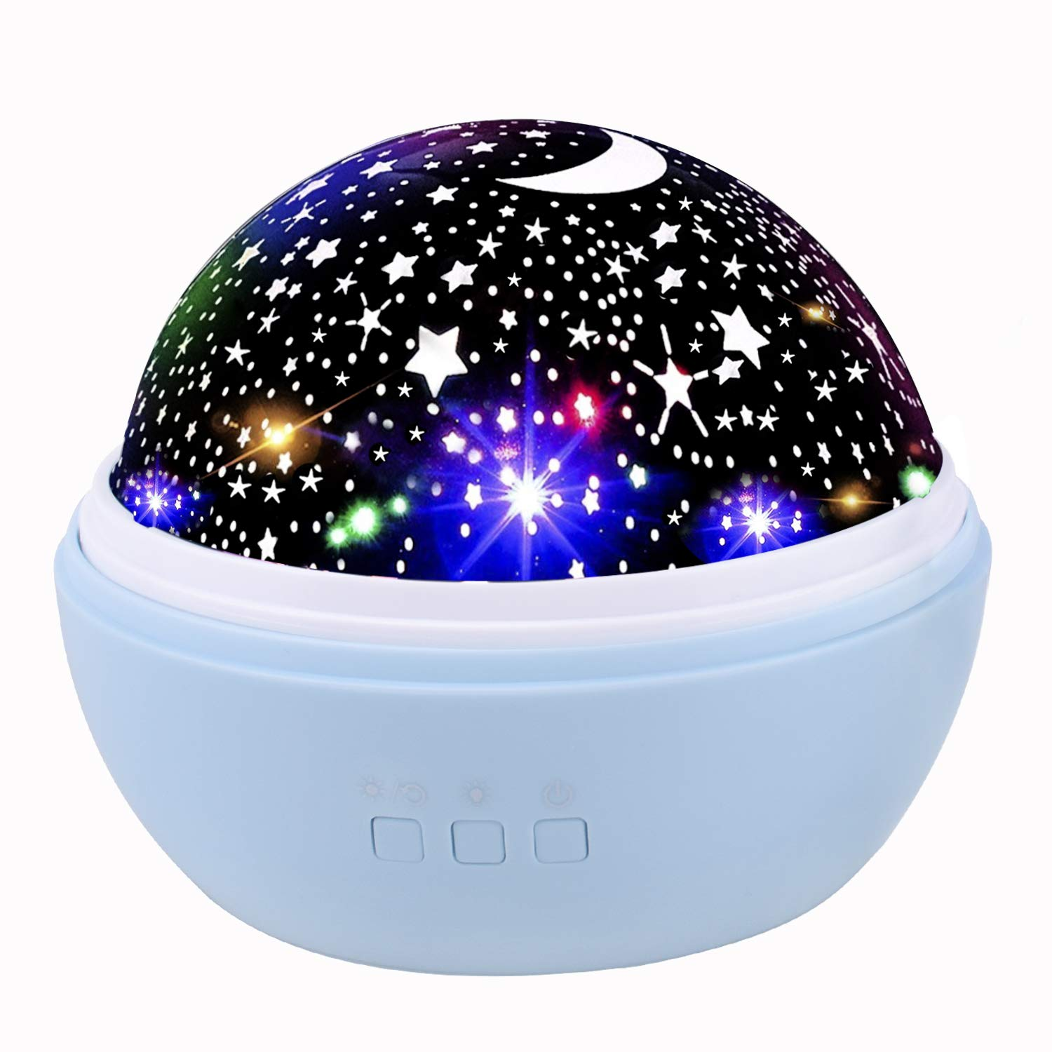 Star Night Light Kids Projection Lamp, Katosca Rotating Sea World Pattern Baby Nursery Projector Romantic Night Lights Birthday Christmas Gift for Kids 2 Films-Blue Color