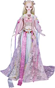 ICY Fortune Days 24 inch 1/3 Scale Classical Dress Series Ball Jointed Doll, Shoes, Hair, 26 Movable Joints, Best Gift for Imaginative Kids, Home Decorating,, in Gift Box(Peach)