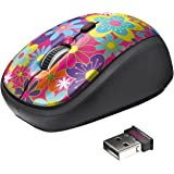 Trust Yvi Wireless Mouse for PC, Laptop - Flower Power