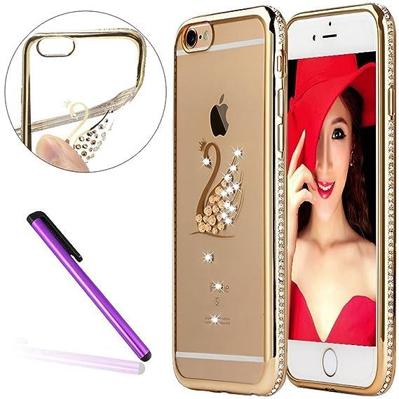 competitive price c15e6 6993c Amazon.com: Diamond Frame Case for iPhone 6S Plus,iPhone 6 Plus ...