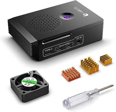 LABISTS Caja para Raspberry Pi 4 Modelo B, Raspberry Pi 4B Caja con Ventilador, Disipadores de Calor, Caja Negra Diseñada Específicamente para Raspberry Pi 4 B (Solo para Pi 4): Amazon.es: Electrónica