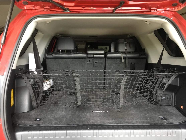 SNBLO Cargo Net Three Pocket Mesh Storage Net Fit Toyota 4 Runner Accessories 8523744302 Trunk net for Back of Truck Cargo Organizer