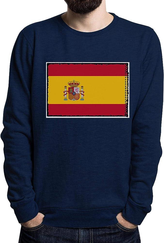 Lilij Spain, Espana, Spanien, Spagna, España Flag Mens Sweater Azul Marino Small: Amazon.es: Ropa y accesorios