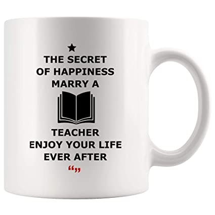 Amazoncom Secret Happiness Marry Teacher Wife Husband Mug