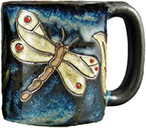 One (1) MARA STONEWARE COLLECTION - 16 Oz Coffee/Tea Cup Collectible Dinner Mugs - Dragonfly Insect Design