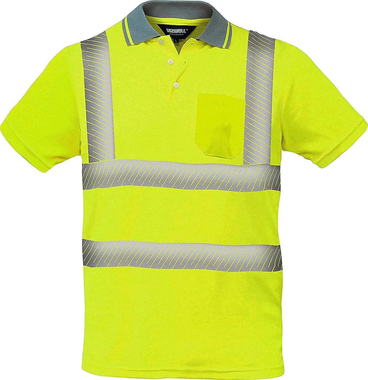 Warnschutz Polo-Shirt Coolpass mit segmentierten Reflexstreifen,Atmungsaktiv,orange oder gelb Gr.XS 5XL