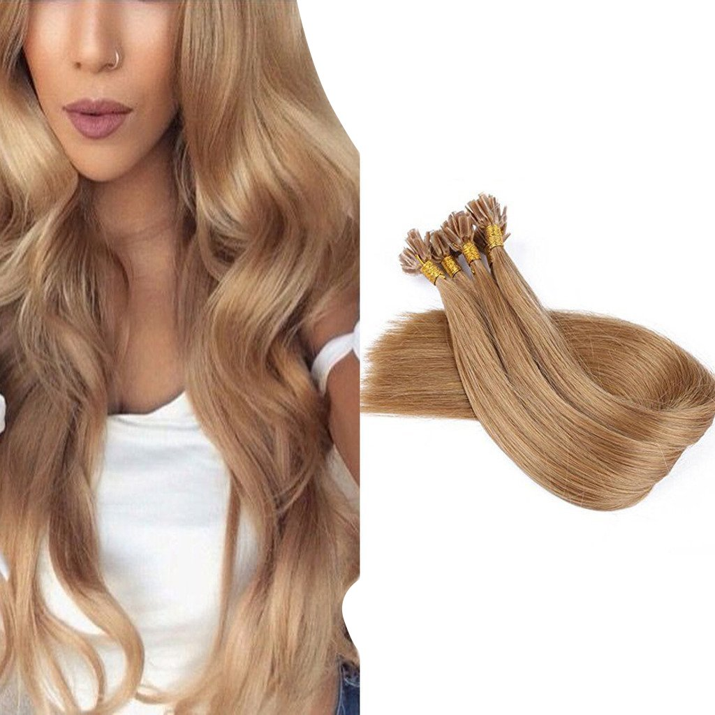 Amazon Googoo U Tip Fusion Hair Extensions Chocolate Brown