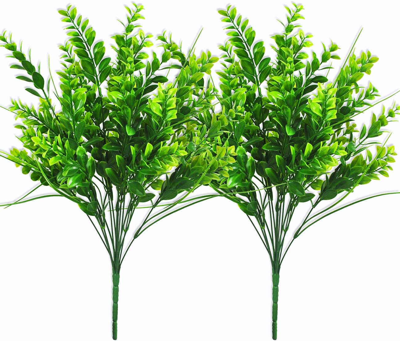 Amazon Com Artificial Plants 21 7 Boxwood Stems Faux Plant