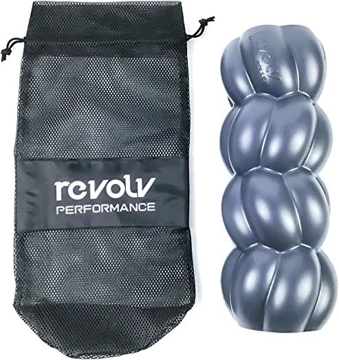 Revolv Performance Barbell Roller Deep Tissue Massage Roller That Fits On an Olympic Barbell Trigger Point Release Deep Tissue Massage Recovery Tool