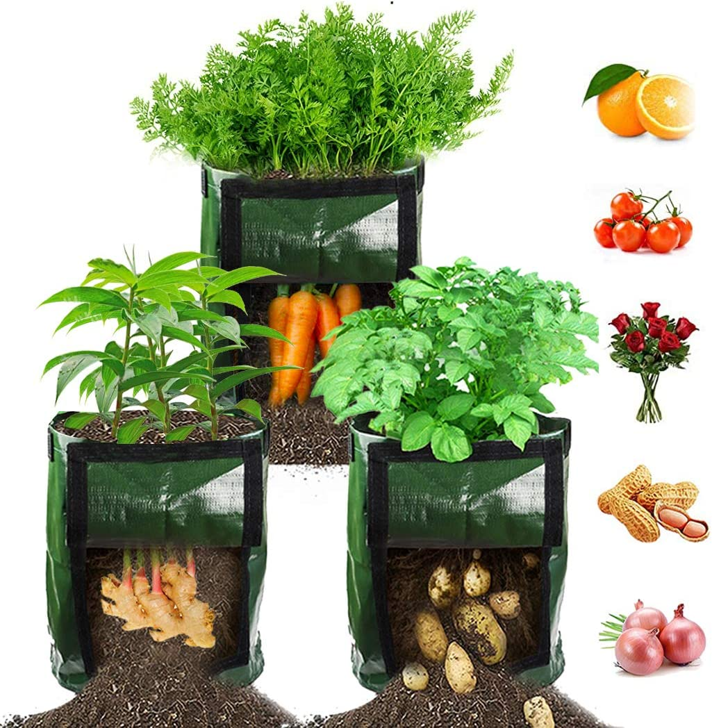 7//10 Gallons Transparent Visible Greenhouse DIY Planting Potato Grow Bags Plant