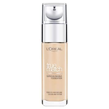 L'oreal Paris True Match Foundation, 3.W Golden Beige, 30 Ml by L'oreal Paris