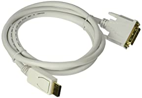 Monoprice 6ft 28AWG DisplayPort to DVI Cable - White