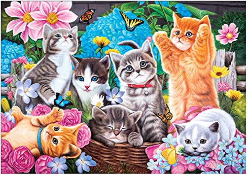 Baiyao Gato DIY 5D Diamant Pintura Diamond Painting Kits Full Drill para casa, Pared: Amazon.es: Juguetes y juegos