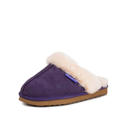 d2b2cf060257 Redfoot Ladies Purple Sheepskin Mule  Amazon.co.uk  Shoes   Bags