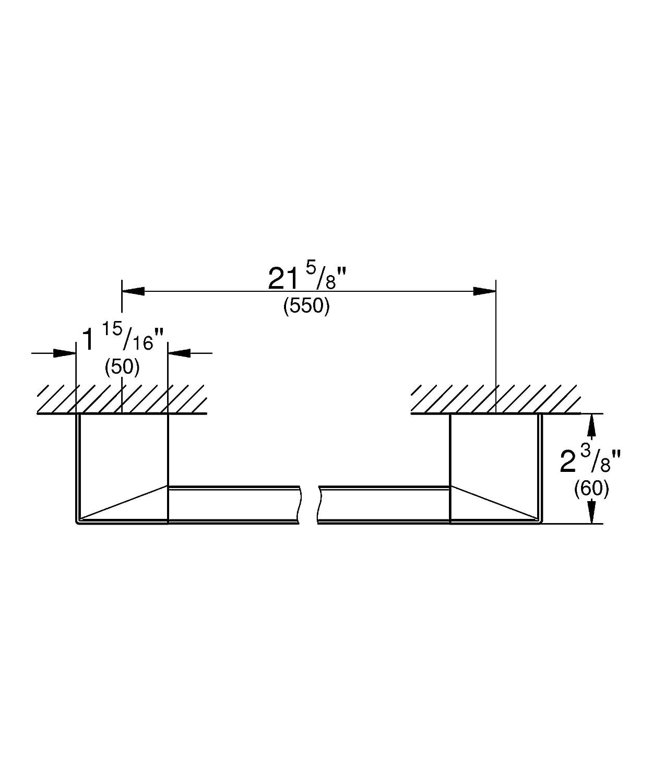 40807000 Grohe Selection Cube Maniglia per vasca